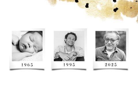 Geburtstagskarte 3 Fotos mit Datum 2