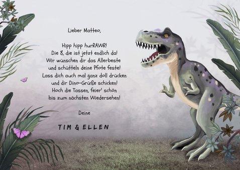 Geburtstagskarte Dschungel-Dino 3