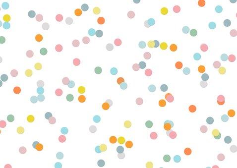 Geburtstagskarte für Kinder bunte Konfetti 2