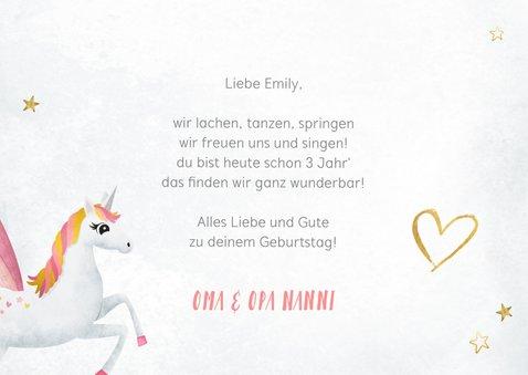 Geburtstagskarte Glückwunsch Einhorn Foto 3