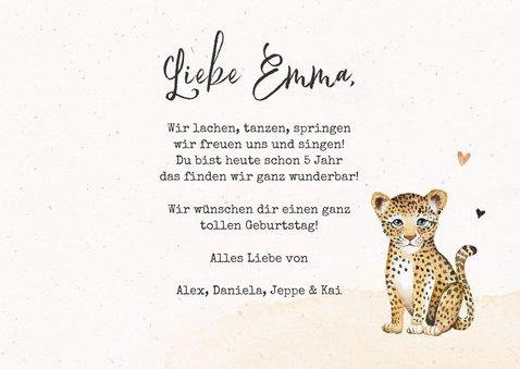 Geburtstagskarte kleiner Leopard 3