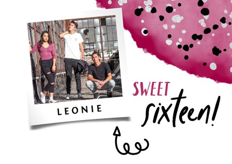 Geburtstagskarte Sweet sixteen mit Foto 2