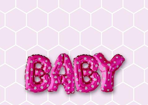 Gefeliciteerd baby ballonnen roze 2