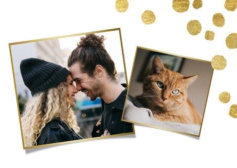 Geregistreerd partnerschap kerstkaart gouden confetti & foto 2