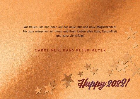 Geschäftliche Kupfer Neujahrskarte 'Happy New Year'  3