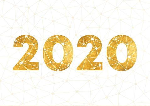 Geschäftliche Neujahrskarte 2020 Verbindungen 2