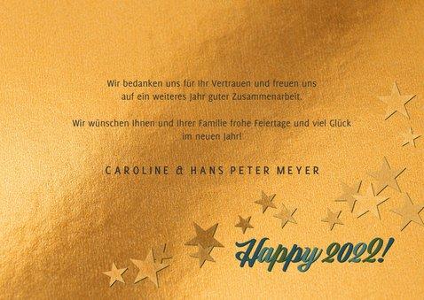 Geschäftliche Neujahrskarte 'Happy New Year' 3