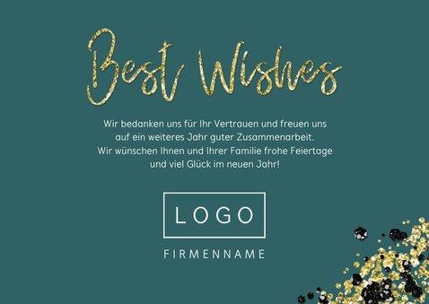 Geschäftliche Weihnachtskarte Fotocollage mit Goldeffekt 3