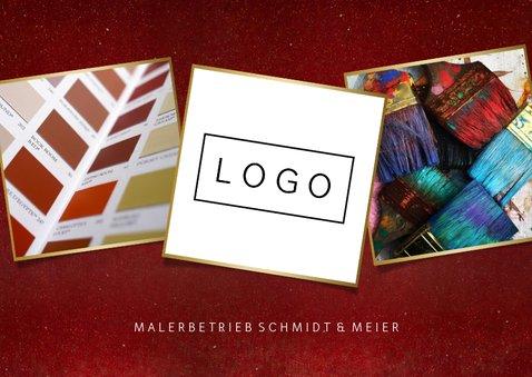 Geschäftliche Weihnachtskarte für Malerbetrieb 2