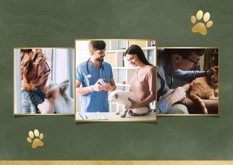 Geschäftliche Weihnachtskarte für Tierklinik oder Tierarzt 2