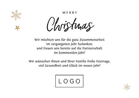 Geschäftliche Weihnachtskarte großes Foto & Schneeflocken 3