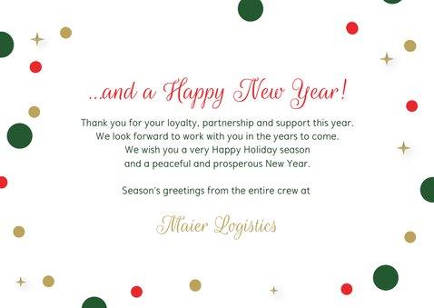 Geschäftliche Weihnachtskarte 'Merry Christmas' 3