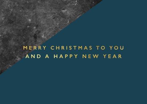 Geschäftliche Weihnachtskarte mit Betonlook und 3 Fotos 2