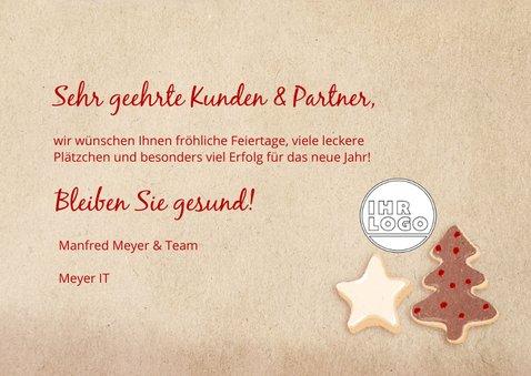 Geschäftliche Weihnachtskarte mit Cookies 3
