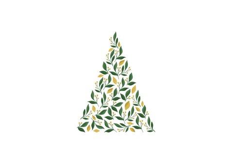 Geschäftliche Weihnachtskarte moderner Baum und Foto 2
