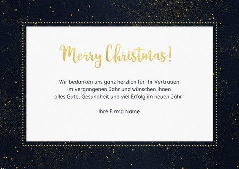 Geschäftliche Weihnachtskarte Sternenhimmel Foto & Logo  3