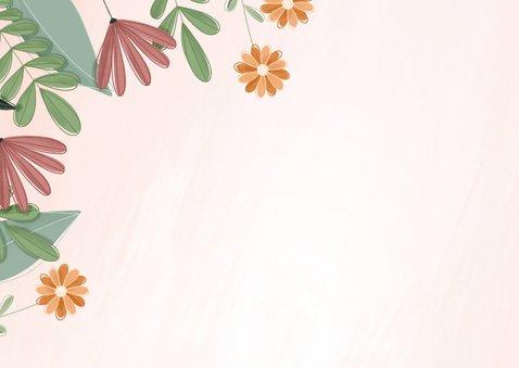Geslaagd kaart met kleurrijke bloemen 2