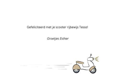Geslaagd kaart voor rijbewijs scooter, vroom!!  3