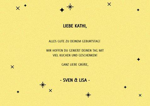 Glückwunschkarte zum Geburtstag Typografie gelb 3