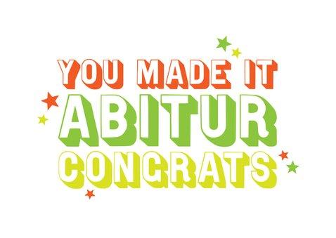 Glückwunschkarte Abitur Congrats 2