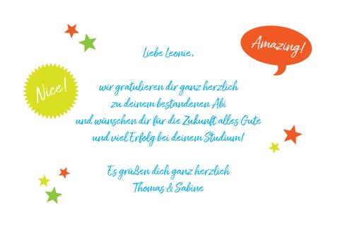 Glückwunschkarte Abitur Congrats 3