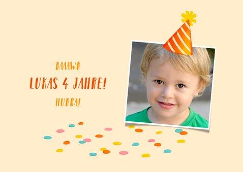Glückwunschkarte Geburtstag Kind Dinosaurier 2