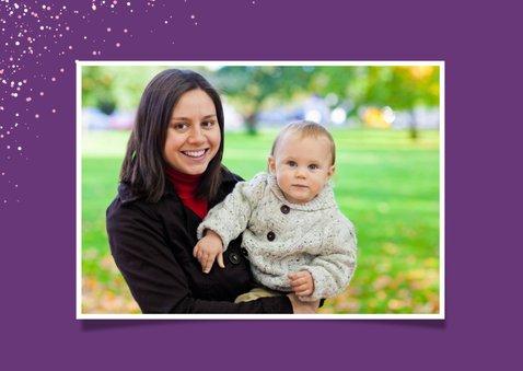 Glückwunschkarte Geburtstag Mädchen Einhorn lila 2