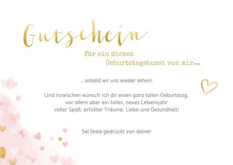 Glückwunschkarte Gutschein Geburtstagsbussi 3