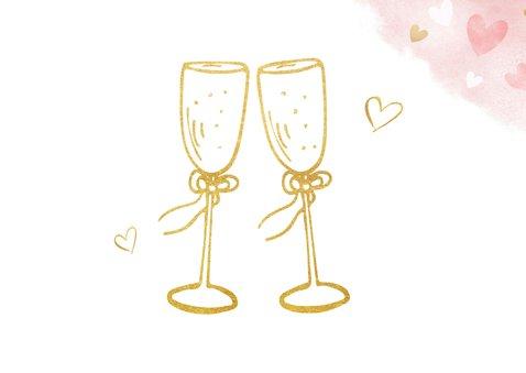 Glückwunschkarte Hochzeitstag Champagnergläser 2