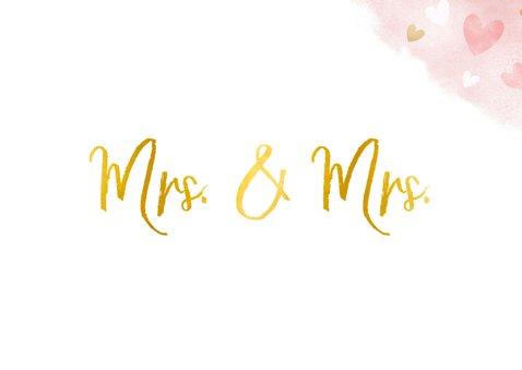 Glückwunschkarte Lesbenhochzeit Mrs. & Mrs. 2