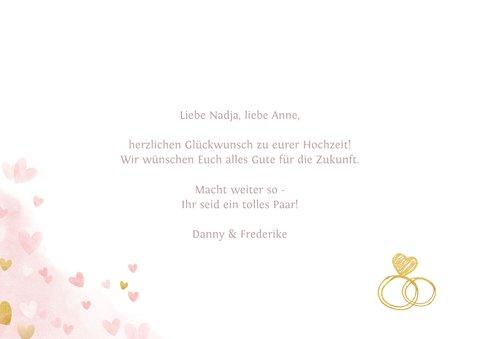 Glückwunschkarte Lesbenhochzeit Mrs. & Mrs. 3