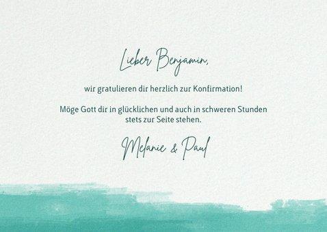 Glückwunschkarte mit Handlettering zur Konfirmation  3