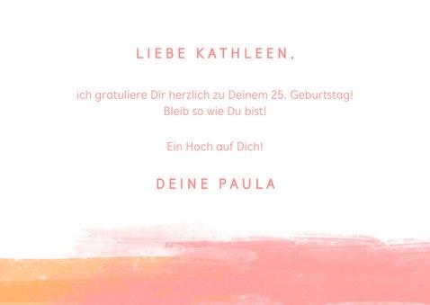 """Glückwunschkarte mit Lettering """"Happy Birthday"""" 3"""