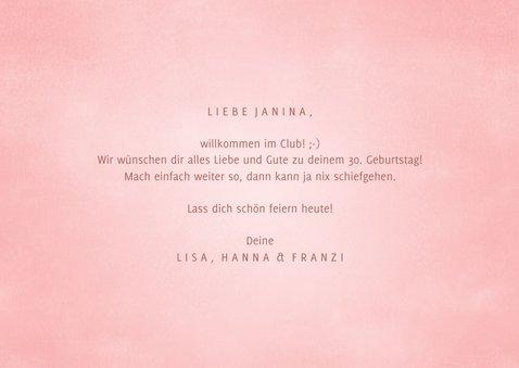 Glückwunschkarte rosa 'Yay', its your birthday' 3