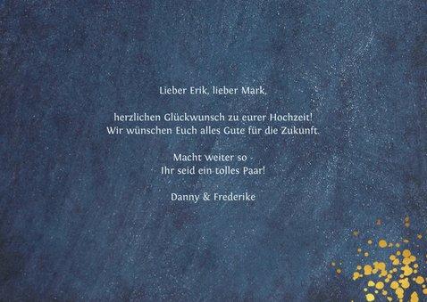 Glückwunschkarte Schwulenhochzeit Mr. & Mr. 3
