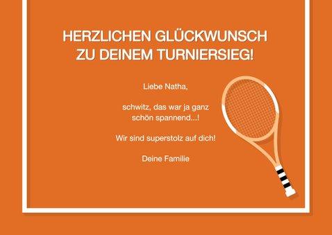 Glückwunschkarte Tennis 3