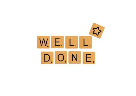 Glückwunschkarte 'You did it' Scrabble 2