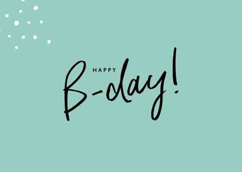 Glückwunschkarte zum Geburtstag mintgrün mit Foto 2
