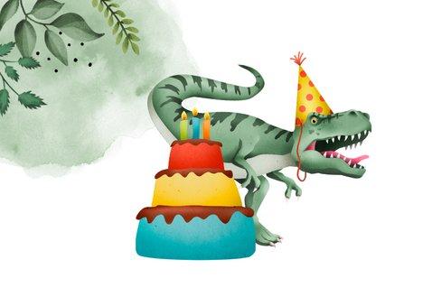 Glückwunschkarte zum Geburtstag Partydino & Foto 2