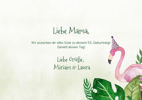 Glückwunschkarte zum Geburtstag tropisch mit Foto 3