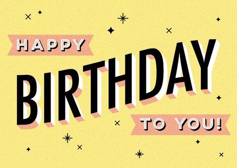 Glückwunschkarte zum Geburtstag Typografie 2