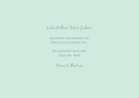 Glückwunschkarte zur Geburt 'it's a boy!' grün 3