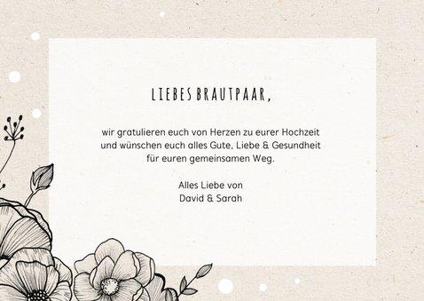 Glückwunschkarte zur Hochzeit Blumengesteck 3