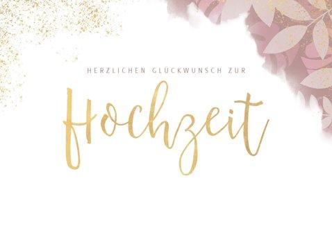 Glückwunschkarte zur Hochzeit in modernem Design 2