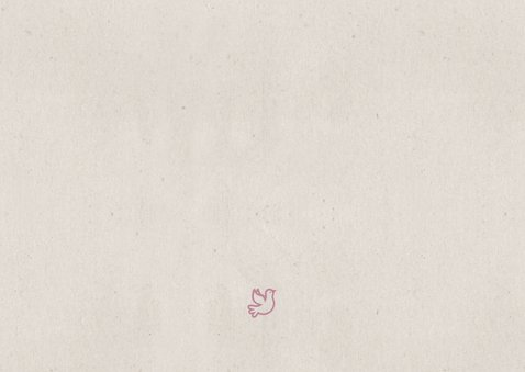 Grafische Einladung zur Taufe Foto rosa Rückseite
