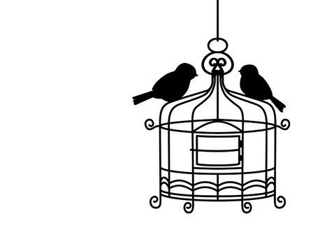 Grappig verhuisbericht met kooitje en vogeltjes 3
