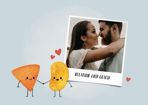 """Grappige liefdekaart """"relation-chip goals"""" met chipjes 2"""