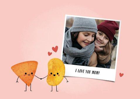 Grappige moederdagkaart moeder en dochter relation-chip 2