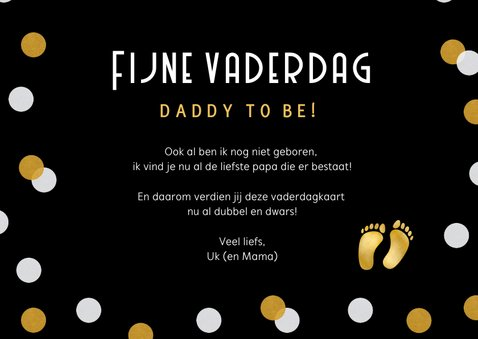 Grappige vaderdagkaart voor de daddy to be 1+1=2½ 3