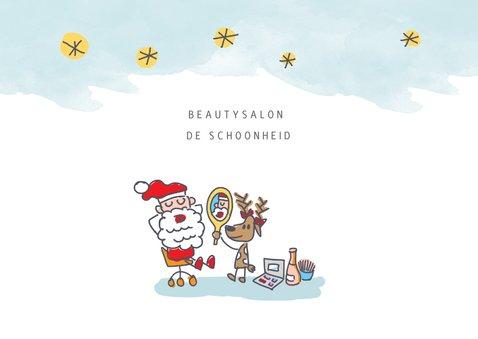 Grappige zakelijke kerstkaart beautysalon 2